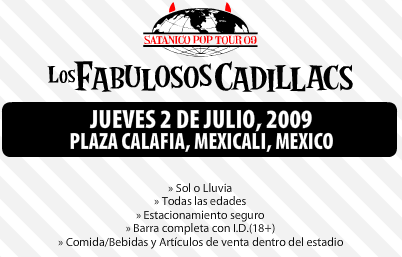 Los fabulosos cadillacs en Mexicali  2 de julio de 2009