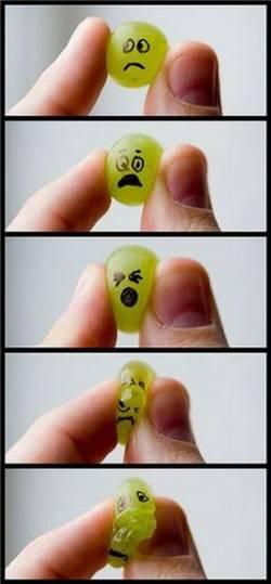 uva uvas dedos