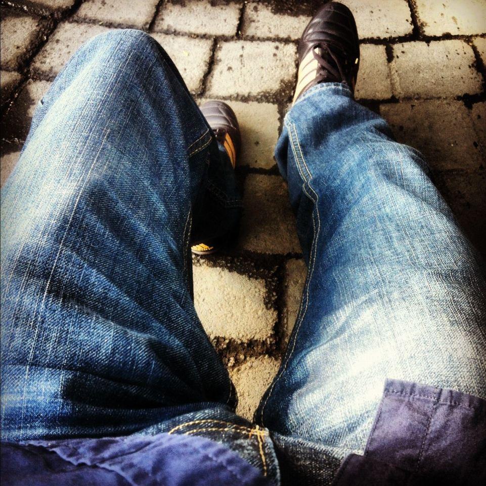 descansando mis piernas